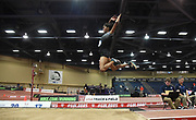 Mar 3, 3017; Albuquerque, NM, USA; Erica Bougard jumps 20-3 1/2 (6.18m) in the pentathlon long jump for the top mark during the USA Indoor Track and Field championships at the Albuquerque Convention Center.