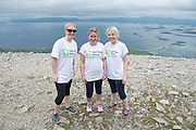 22/06/2014 Brid Maher, Ballybrittas Bernie McArdle TullamoreTom Coleman Ballybrittas who climbed the  765 metre Croagh Patrick in Mayo as part of the 30th Anniversary Celebrations of  Self Help Africa and to support the work of Self Help Africa in 10 countries in Africa. Photo: Andrew Downes