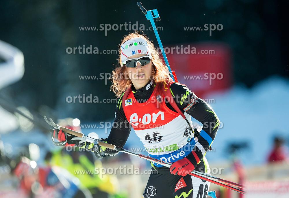 Sophie Boilley of France during Women 7.5 km Sprint at day 1 of IBU Biathlon World Cup 2014/2015 Pokljuka, on December 18, 2014 in Rudno polje, Pokljuka, Slovenia. Photo by Vid Ponikvar / Sportida