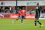 Dundee&rsquo;s Greg Stewart celebrates after scoring - Dundee v Ross County - Ladbrokes Premiership at Dens Park<br /> <br />  <br />  - &copy; David Young - www.davidyoungphoto.co.uk - email: davidyoungphoto@gmail.com
