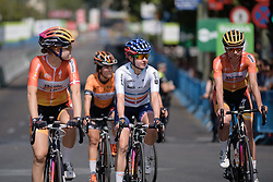 Final day for Megan Guarnier in the UCI Women's WorldTour jersey as the competition draws to a close at Madrid Challenge by La Vuelta an 87km road race in Madrid, Spain on 11th September 2016.