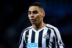 Miguel Almiron of Newcastle United - Mandatory by-line: Robbie Stephenson/JMP - 12/04/2019 - FOOTBALL - King Power Stadium - Leicester, England - Leicester City v Newcastle United - Premier League