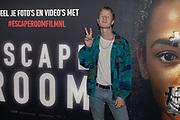2019, Februari 22. Pathe ArenA, Amsterdam. Premiere van Escape Room. Op de foto: Bradley Braafhart