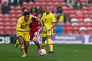 Daniel Powell(Milton Keynes Dons) during the Sky Bet Championship match between Middlesbrough and Milton Keynes Dons at the Riverside Stadium, Middlesbrough, England on 12 September 2015. Photo by George Ledger.