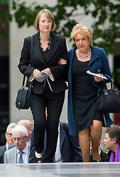 © Licensed to London News Pictures. 07/07/2015. London, UK. Labour MP HARRIET HARMAN. A church service held at St Paul's Cathedral In London on the 10th anniversary of the 7/7 bombings in London which killed 52 civilians and injured over 700 more.  Photo credit: Ben Cawthra/LNP