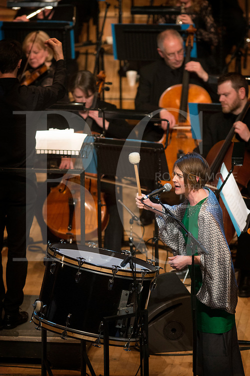 Karine Polwart opens the Celtic Connections festival with an anti-Trump song on the eve of his inauguration. Glasgow Royal Concert Hall on January 19, 2017 in Glasgow, Scotland. (Photo by Ross Gilmore