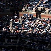 August 30, 2017 - New York, NY : People watch US Open competition in Arthur Ashe Stadium on the third day of the U.S. Open, at the USTA Billie Jean King National Tennis Center in Queens, New York, on Wednesday. <br /> CREDIT : Karsten Moran for The New York Times