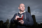 Graphic Novel Author David Baillie gets inspiration for his Glasgow set DC released comic story Red Thorn at the city's famous Necropolis graveyard. Shot for the Sunday Mail