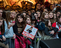 LYON, FRANCE - FEBRUARY 11: R&amp;B French singer Matt Pokora attends public showcase organized by Radio Scoop at Part-Dieu shopping center on February 11, 2015 in Lyon, France. <br />