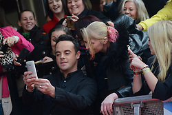 Britain's Got Talent. Anthony McPartlin (Ant and Dec) arrives to Britain&rsquo;s Got Talent at Hammersmith Apollo. Hammersmith Apollo, London, United Kingdom. Tuesday, 11th February 2014. Picture by Peter Kollanyi / i-Images<br /> File photo - on Thursday, March 13 2014, Television presenter Ant McPartlin and his mother were assaulted outside a pub in west London. Picture Filed Tuesday March 25 2014.