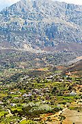 TETOUAN, MOROCCO - 7th April 2016 - Rif Mountain Landscape and mountain scenery surrounding the Tetouan Medina, Rif region of Northern Morocco.