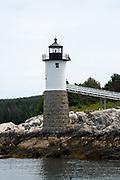 The old Isle au Haut lighthouse is now an inn, Isle au Haut, Maine.
