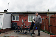 Alan was in his fifties when I met him in 2002, he was passionate about his battle to save the BL8 aluminium bungalows. And so were his neighbours. His wife, Nina had grown up in the same prefab where they were living. She had polio when she was a kid. Living in a bungalow is ideal for her. I like this photo of Alan standing proudly in his garden. He has built a nice conservatory and is particularly looking after his garden. As a councillor, Alan has given a lot to the town of Redditch and has just been the Mayor of the town for one year.