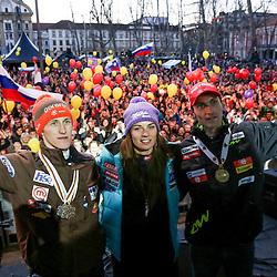 20130319: SLO, Winter sports - Reception of Athletes Tina Maze, Jakov Fak, Peter Prevc, Rok Marguc