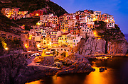 Evening light in Manarola, Cinque Terre, Liguria, Italy