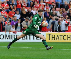 Bristol City Goalkeeper, Frank Fielding makes a clearance.  - Photo mandatory by-line: Nizaam Jones- Mobile: 07583 3878221 - 27/09/2014 - SPORT - Football - Bristol - Ashton Gate - Bristol City v MK Dons - Sports