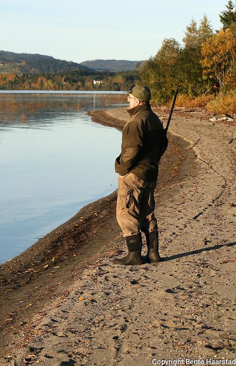 Geese hunting. Jakt på kortnebbgås, Selbusjøen i Selbu.