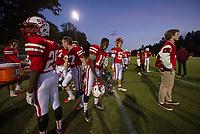 St Paul's School varsity football with New Hampton School.   ©2018 Karen Bobotas Photographer
