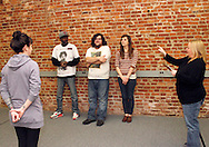 (from left) Erin Welsh of Dayton, Nate Washington of Dayton, Aaron Phillips of Dayton, Kathy Roll of Dayton.and Karen Jaffe of Washington Township during a Lofty Aspirations improv class at The Livery in the Oregon Arts District in Dayton, Wednesday, February 15, 2012.