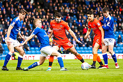 Matthew Bloomfield of Wycombe Wanderers takes on Louis Reed of Chesterfield - Mandatory by-line: Robbie Stephenson/JMP - 28/04/2018 - FOOTBALL - Proact Stadium - Chesterfield, England - Chesterfield v Wycombe Wanderers - Sky Bet League Two