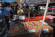 Saturday farmers Market in Jackson, Wyoming.