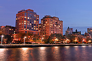 Superior Ink Condominiums, Robert A. M. Stern, Hudson River Park, West Street between Bethune and West 12th Streets, Greenwich Village, Manhattan, New York City, New York, USA