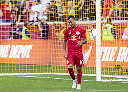 September 30, 2018 - Harrison, New Jersey, United States - Alejandro Romero Gamarra Kaku (10) of New York Red Bulls reacts after missing penalty kick regular MLS game against Atlanta United at Red Bull Arena Red Bulls won 2 - 0  (Credit Image: © Lev Radin/Pacific Press via ZUMA Wire)