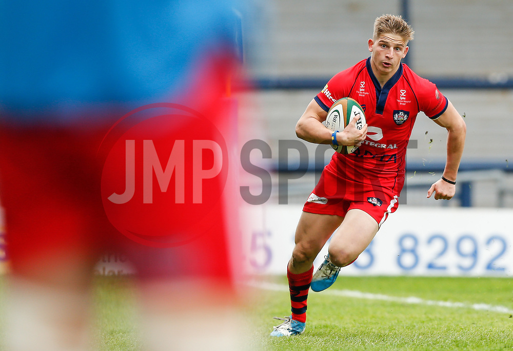Bristol Full Back Auguy Slowik runs in his 2nd try of the game - Photo mandatory by-line: Rogan Thomson/JMP - 07966 386802 - 14/09/2014 - SPORT - RUGBY UNION - Leeds, England - Headingley Carnegie Stadium - Yorkshire Carnegie v Bristol Rugby - Greene King IPA Championship.