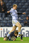 Try for Nathan Fowles during the Guinness Pro 14 2018_19 match between Edinburgh Rugby and Cardiff Blues at Murrayfield Stadium, Edinburgh, Scotland on 23 February 2019.