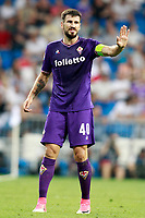 ACF Fiorentina's Nenad Tomovic during Santiago Bernabeu Trophy. August 23,2017. (ALTERPHOTOS/Acero)