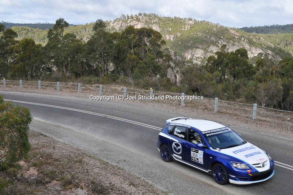 Rick Bates & Anthony McLoughlin.2007 Mazda 3 MPS.Day 4.Targa Tasmania 2009.2nd of May 2009.(C) Joel Strickland Photographics.