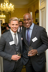 © Licensed to London News Pictures. 03/09/14. Admiralty House, Whitehall, London. Deputy Prime Minister Nick Clegg hosts a reception to celebrate his launch of the free school meals campaign with Jeff Brazier and celebratory chef Ainsley Harriott in attendance. Photo credit : David Tett/LNP