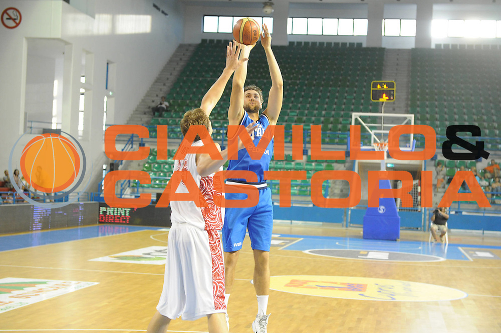 DESCRIZIONE : Cipro European Basketball Tour Italia Russia Italy Russia<br /> GIOCATORE : Andrea Bargnani<br /> CATEGORIA : Tiro<br /> SQUADRA : Nazionale Italia Uomini <br /> EVENTO : European Basketball Tour <br /> GARA : Italia Russia <br /> DATA : 06/08/2011 <br /> SPORT : Pallacanestro <br /> AUTORE : Agenzia Ciamillo-Castoria/GiulioCiamillo<br /> Galleria : Fip Nazionali 2011 <br /> Fotonotizia :  Cipro European Basketball Tour Italia Russia Italy Russia<br /> Predefinita :