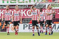 ROTTERDAM - Sparta - Vitesse , Voetbal , Eredivisie , Seizoen 2016/2017 , Het Kasteel , 11-12-2016 ,  eindstand 3-1 , Spelers van Sparta lopen teleurgesteld terug na de 0-1 tegen