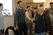 Alessandro Simioni, Gaetano Laguardia<br /> Nazionale Italiana Maschile Senior - Premiazione Nazionale U19<br /> FIP 2017<br /> Torino, 21/11/2017<br /> Foto M. Brondi / Ciamillo-Castoria