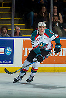 KELOWNA, CANADA - JANUARY 5: Braydyn Chizen #22 of the Kelowna Rockets skates against the Seattle Thunderbirds on January 5, 2017 at Prospera Place in Kelowna, British Columbia, Canada.  (Photo by Marissa Baecker/Shoot the Breeze)  *** Local Caption ***