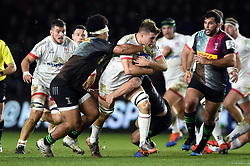 Jordi Murphy of Ulster takes on the Harlequins defence - Mandatory byline: Patrick Khachfe/JMP - 07966 386802 - 13/12/2019 - RUGBY UNION - The Twickenham Stoop - London, England - Harlequins v Ulster Rugby - Heineken Champions Cup