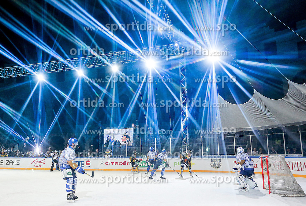 16.09.2012, Amphitheater, Pula, CRO, EBEL, Ice Fever, KHL Medvescak Zagreb vs UPC Vienna Capitals, 04. Runde, im Bild Uebersicht // during the Erste Bank Icehockey League 04th Round match betweeen KHL Medvescak Zagreb and UPC Vienna Capitals at the Amphitheater, Pula, Croatia on 2012/09/16. EXPA Pictures © 2012, PhotoCredit: EXPA/ Pixsell/ Igor Kralj ***** ATTENTION - OUT OF CRO, SRB, MAZ, BIH and POL *****