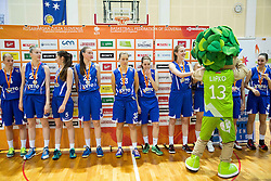 Players of Triglav look dejected after the basketball match between ZKK Athlete Celje and ZKK Triglav in Finals of 1. SKL for Women 2014/15, on April 20, 2015 in Gimnazija Celje Center, Celje, Slovenia. ZKK Athlete Celje became Slovenian National Champion 2015. Photo by Vid Ponikvar / Sportida