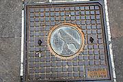 manhole cover Spello, Umbria, Italy