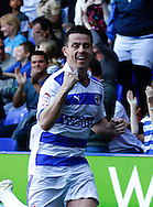 Picture by Andrew Tobin/Focus Images Ltd. 07710 761829. 24/03/12 Ian Harte of Reading celebrates after scoring his first goal during the Npower Championship match at Madejski stadium, Reading.