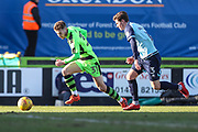 Forest Green Rovers Alex Bray(31) runs forward during the EFL Sky Bet League 2 match between Forest Green Rovers and Crawley Town at the New Lawn, Forest Green, United Kingdom on 24 February 2018. Picture by Shane Healey.