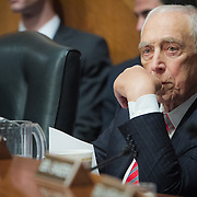 Senator Frank Lautenberg (D-NJ), returned to Washington DC to vote for an Obama administration nominee on Thursday, May 16, 2013.  Sen. Lautenberg had not been in Washington since February 28, as weakness in his legs has prevented him from traveling to the Capitol.  He died only a few weeks later, on June 3, 2013. John Boal Photography