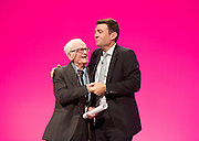 Labour Party Conference<br /> at Manchester Central, Manchester, Great Britain <br /> 24th September 2014 <br /> <br /> Harry Smith <br /> speaking during the Health & Care debate <br /> with Andy Burnham MP <br /> <br /> <br /> Photograph by Elliott Franks <br /> Image licensed to Elliott Franks Photography Services