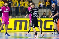 Miha Zarabec of THW Kiel during handball match between RK Celje Pivovarna Lasko and THW Kiel in Group Phase A+B of VELUX EHF Champions League, on November 19, 2017 in Arena Zlatorog, Celje, Slovenia. Photo by Ziga Zupan / Sportida