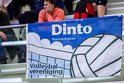 31-03-2018 NED: Finale C Volleybaldirect Open, Wognum<br /> 16 teams van meisjes en jongens C streden om het Nederlands Kampioenschap / Dinto vlag spandoek item