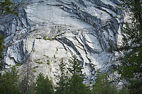 Granite cliffs in Yosemite National Park Half Dome California USA.