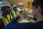 Training in the Engine Control Room of the Maersk Attender