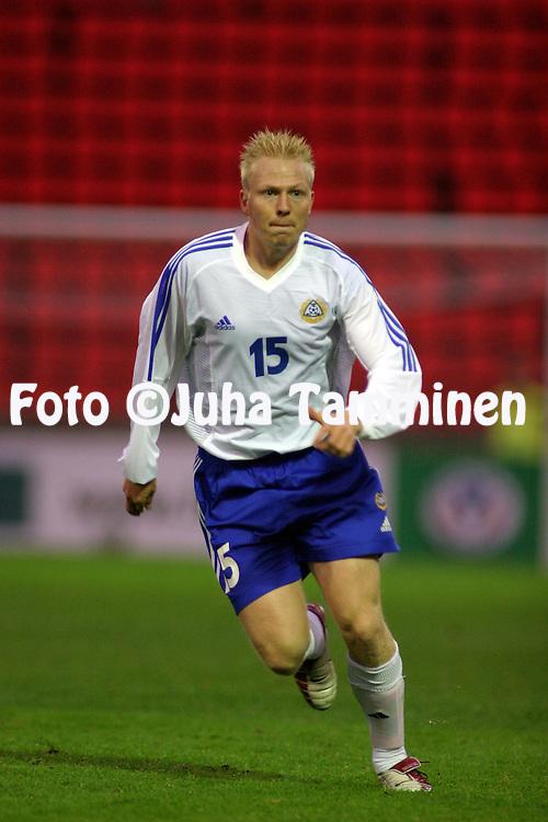 11.10.2003, Ratina Stadium, Tampere, Finland..Friendly International match, Finland v Canada..Aki Riihilahti - Finland.©Juha Tamminen