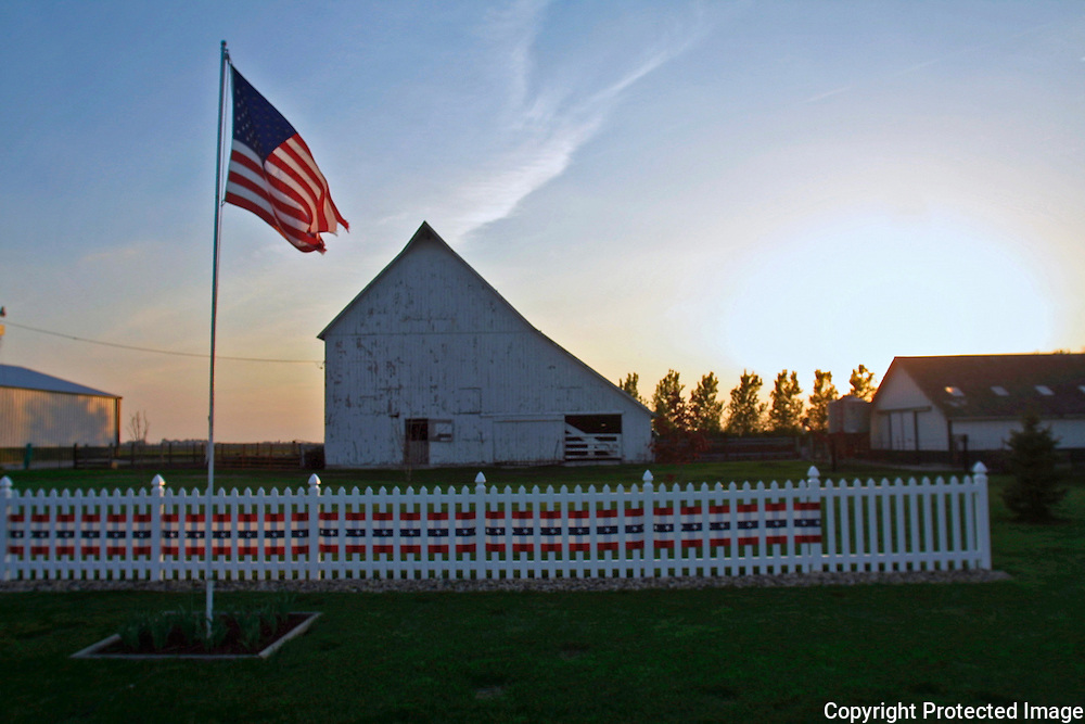 A farm near Rockwell City, Ia., is dressed in patriotic red white and blue.13USA, Des Moines, Ia.  Photo by David Peterson13USA, Des Moines, Ia.  Photo by David Peterson